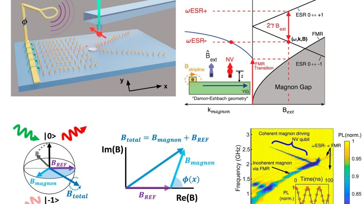 This work describes a general scattering platform that uses magnons to explore the underlying properties of target materials.
